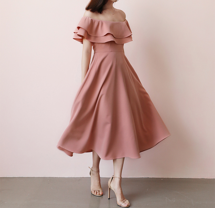 Blush Pink Tea Length Bridesmaid Dress Simple Blush Wedding Dress Blush Bridesmaid Dress Outfit Plus Size Off Shoulder 2020 Blush Wedding Sold By Dressromantic On Storenvy