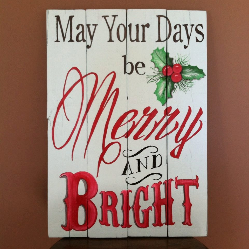 Indoor or Outdoor Christmas sign on recycled pallet wood ...