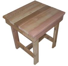 Adirondack End Table Hand Crafted In Natural Western Red Cedar