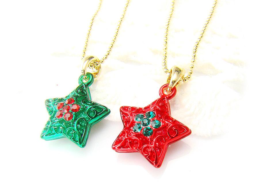 Christmas Ornament Star Earrings Jewelry Christmas Gift ...