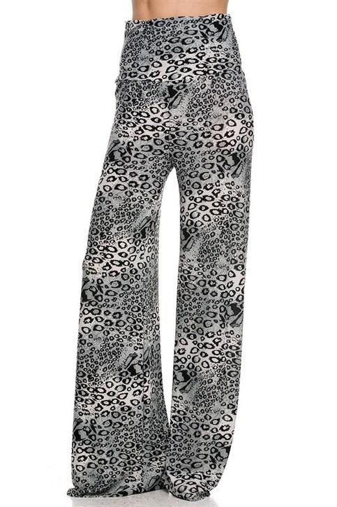 Snow Leopard Print Palazzo Pants On Storenvy
