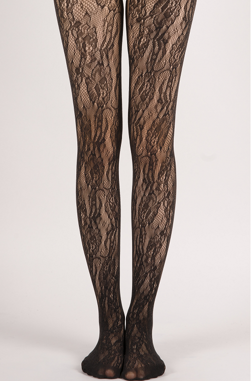fb51d730003 Elegant Sexy Smooth Floral Pattern Sheer Lace Tights · Miss Olina ...