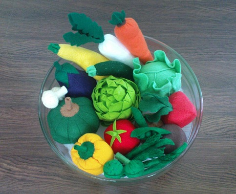 Felt Patterns Vegetables Lot 19 Felt Vegetables